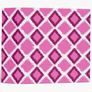 """Modelo rosado de Ikat del diamante Carpeta 2"""""""