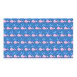 Modelo rosado de la ballena en azul tarjetas de visita