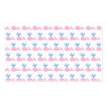 Modelo rosado de la ballena tarjetas de visita