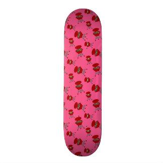modelo rosado de la barbacoa tablas de skate