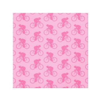Modelo rosado de la bicicleta impresiones en lona estiradas