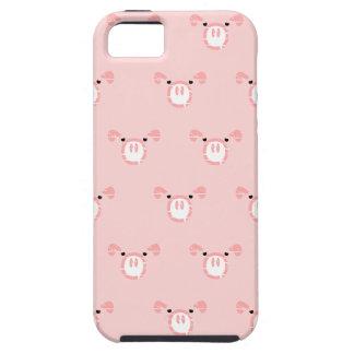 Modelo rosado de la cara del cerdo iPhone 5 Case-Mate cobertura