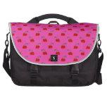 Modelo rosado de la cereza bolsas de portatil