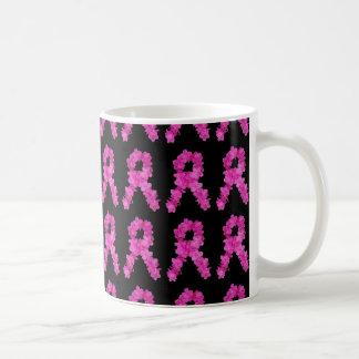 Modelo rosado de la cinta de la conciencia del taza clásica