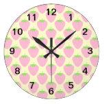 Modelo rosado de la fresa reloj de pared