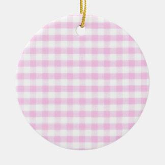 Modelo rosado de la guinga adorno redondo de cerámica