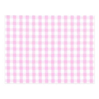 Modelo rosado de la guinga postal