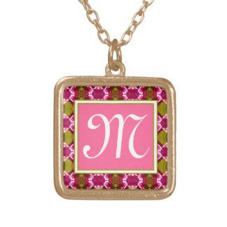 Modelo rosado de la joya colgante cuadrado