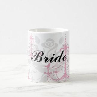 modelo rosado de la lámpara de la frambuesa en bla taza
