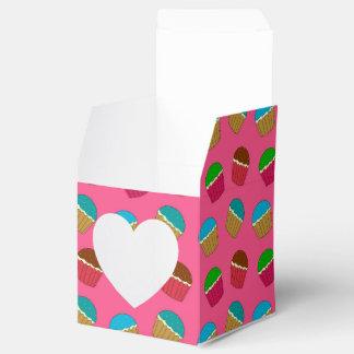 Modelo rosado de la magdalena cajas para regalos de fiestas