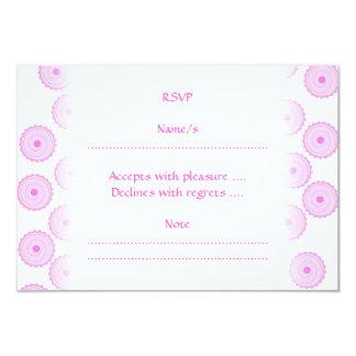 """Modelo rosado de la magdalena invitación 3.5"""" x 5"""""""