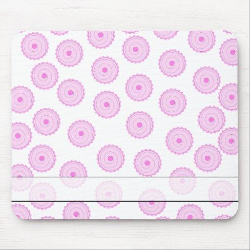 Modelo rosado de la magdalena mousepad