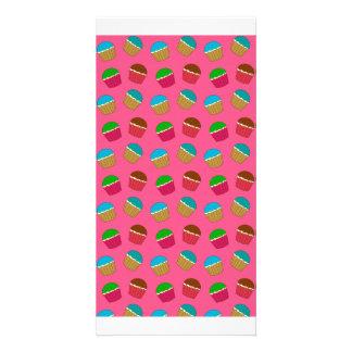 Modelo rosado de la magdalena tarjeta fotográfica