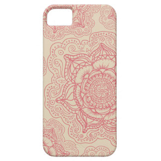 Modelo rosado de la mandala iPhone 5 funda