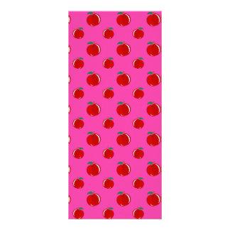Modelo rosado de la manzana diseño de tarjeta publicitaria
