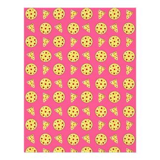modelo rosado de la pizza plantillas de membrete