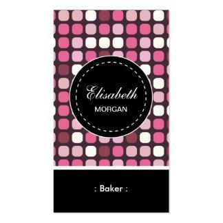 Modelo rosado de la polca del panadero tarjetas de visita