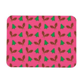 Modelo rosado de la raqueta imán rectangular