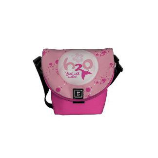 Modelo rosado de la sirena bolsas messenger