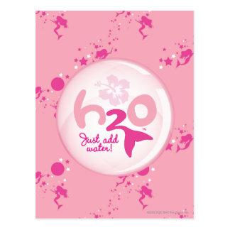 Modelo rosado de la sirena tarjeta postal