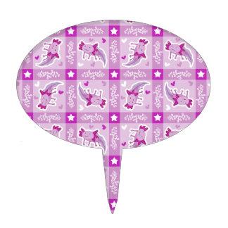 Modelo rosado de la tela escocesa del Axolotl Decoración Para Tarta