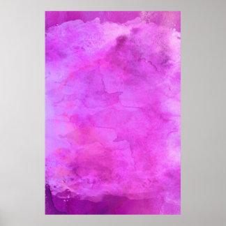 Modelo rosado de la textura de la acuarela de la póster