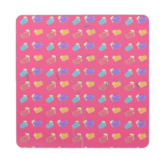 Modelo rosado de la torta