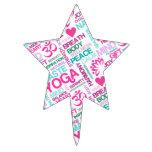 Modelo rosado de la YOGA de Namaste, de la paz y d Decoraciones De Tartas