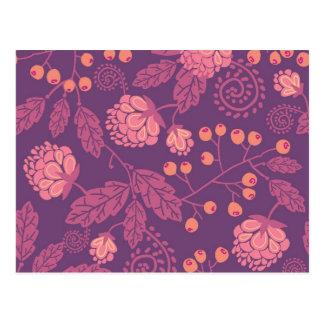 Modelo rosado de las bayas del jardín postal