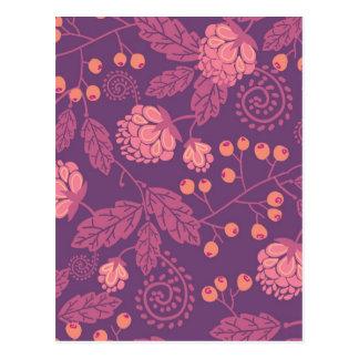 Modelo rosado de las bayas del jardín tarjetas postales