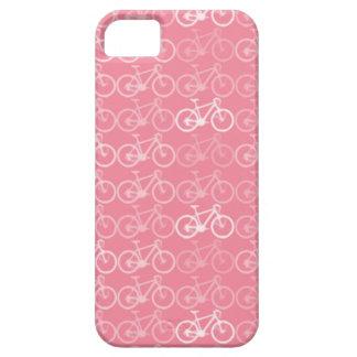modelo rosado de las bicicletas iPhone 5 carcasas