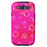 modelo rosado de las burbujas samsung galaxy SIII funda