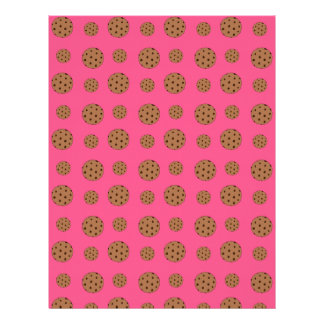 Modelo rosado de las galletas de microprocesador d membretes personalizados