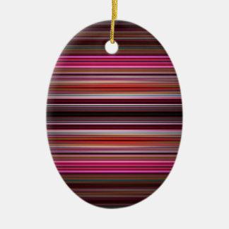 Modelo rosado de las rayas adorno ovalado de cerámica