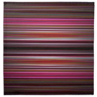 Modelo rosado de las rayas servilletas