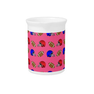modelo rosado de los cascos de fútboles jarra