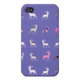 Modelo rosado de los ciervos iPhone 4 cárcasa