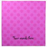 Modelo rosado de los copos de nieve servilleta de papel