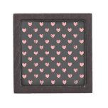Modelo rosado de los corazones de la pizarra caja de joyas de calidad