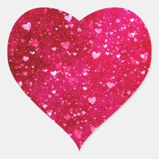 Modelo rosado de los corazones del brillo calcomanía de corazón personalizadas