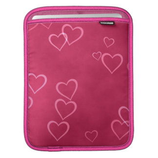 Modelo rosado de los corazones funda para iPads