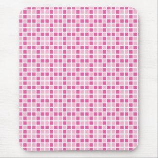 Modelo rosado de los cuadrados alfombrillas de raton