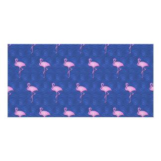 Modelo rosado de los flamencos tarjetas personales