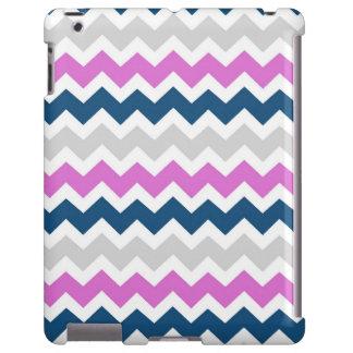 modelo rosado de los galones del gris azul del iPa Funda Para iPad