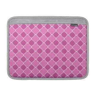 Modelo rosado de Macbook Quatrefoil Fundas Para Macbook Air