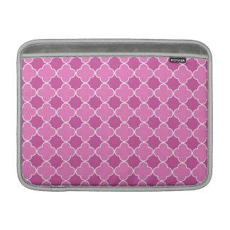 Modelo rosado de Macbook Quatrefoil Fundas MacBook