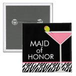 Modelo rosado de Martini y de la cebra Pins
