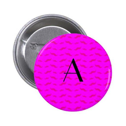 Modelo rosado de neón del bigote del monograma pin