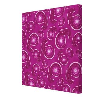 Modelo rosado de Paisley de la púrpura y del color Impresiones En Lienzo Estiradas