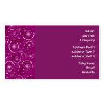 Modelo rosado de Paisley de la púrpura y del color Tarjeta De Negocio